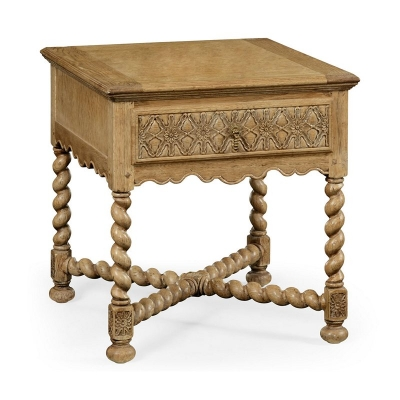 Jonathan Charles Natural Oak Square Side Table