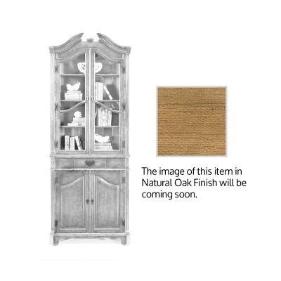 Jonathan Charles Natural Oak Queen Anne Style Corner Cabinet