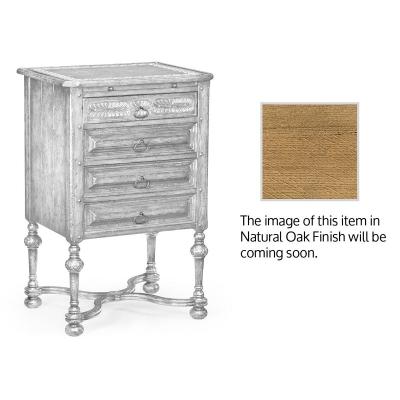 Jonathan Charles Inch Tudorbethan Inch Natural Oak Bedside Cabinet