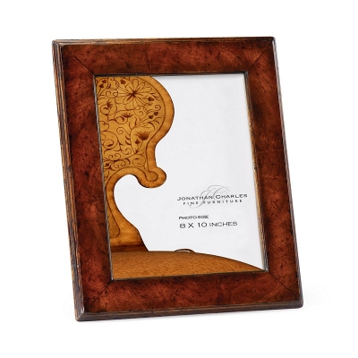 Jonathan Charles Crotch Walnut Picture Frame Stepped Borders