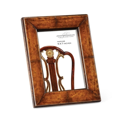 Jonathan Charles Brown Leather Picture Frame