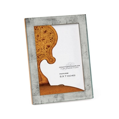 Jonathan Charles Silver eglomise Glass Picture Frame
