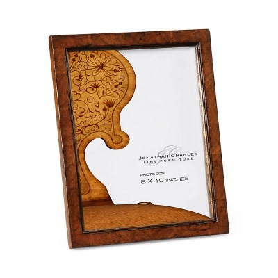 Jonathan Charles Crotch Walnut Picture Frame