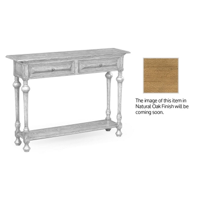 Jonathan Charles Elizabethan Style Natural Oak Console