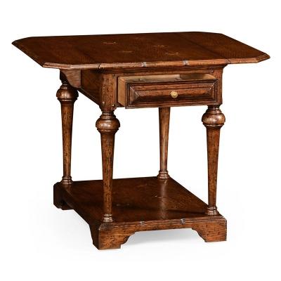 Jonathan Charles Elizabethan Pembroke Brown Oak Table