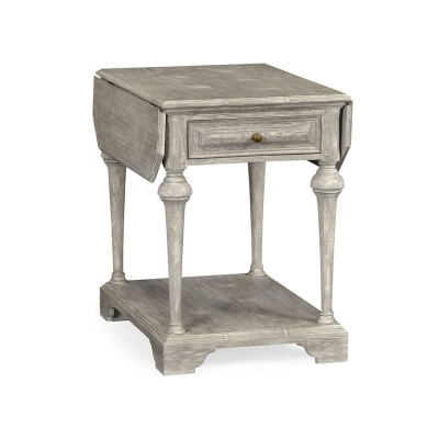 Jonathan Charles Elizabethan Style Greyed Oak Pembroke Table