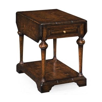 Jonathan Charles Elizabethan Dark Oak Pembroke Table