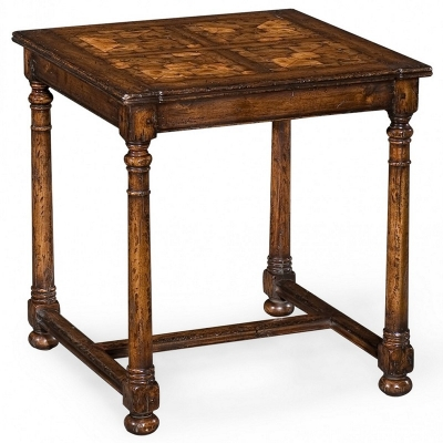 Jonathan Charles Square Oyster Parquet Side Table