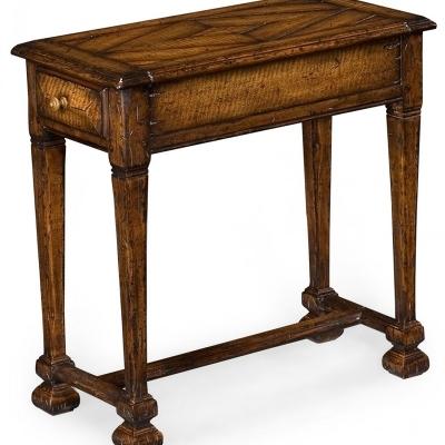 Jonathan Charles Narrow Figured Walnut Side Table