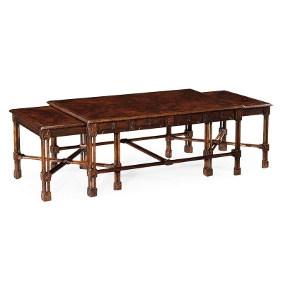 Jonathan Charles Chippendale Gothic Nesting Tables