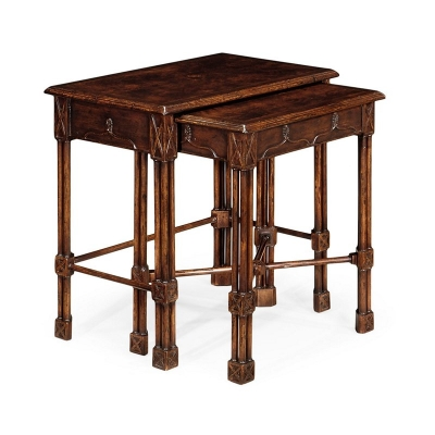 Jonathan Charles Chippendale Gothic Style Nesting Tables