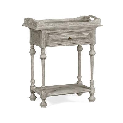 Jonathan Charles Elizabethan Style Greyed Oak Tray Table
