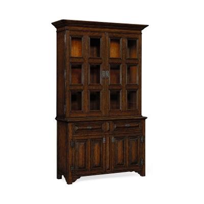 Jonathan Charles Inch Tudorbethan Inch Dark Oak Bookcase