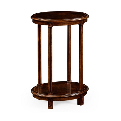 Jonathan Charles Dark Walnut Oval Lamp Table