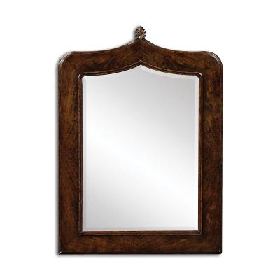 Jonathan Charles Gothic Dark Crotch Walnut Mirror
