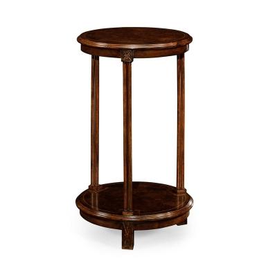 Jonathan Charles Dark Walnut Round Lamp Table