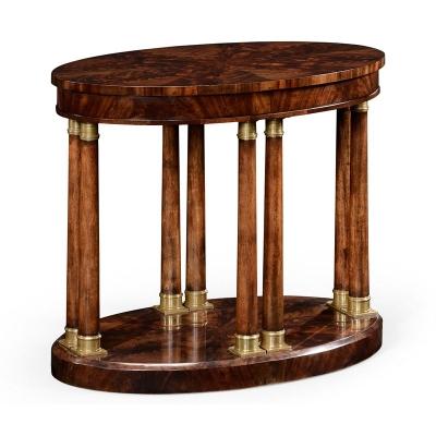 Jonathan Charles Mahogany Biedermeier Style Oval Side Table