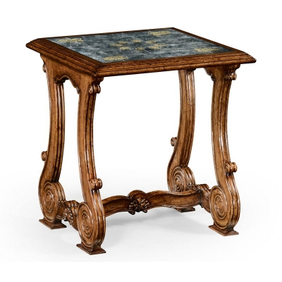 Jonathan Charles Paisley eglomise French Provincial Style Side Table