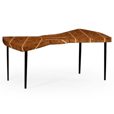 Jonathan Charles Burl Oak Bowtie Coffee Table