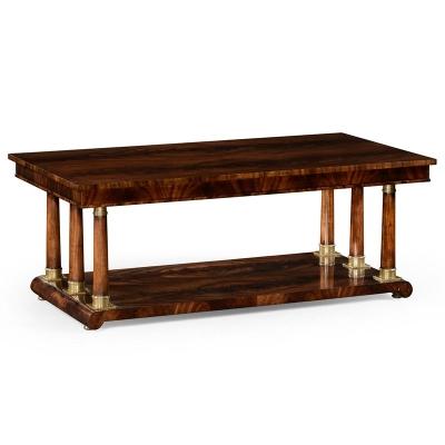 Jonathan Charles Mahogany Biedermeier Style Rectangular Coffee Table