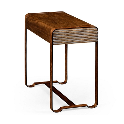 Jonathan Charles 50s Americana Side Table with Steel Details
