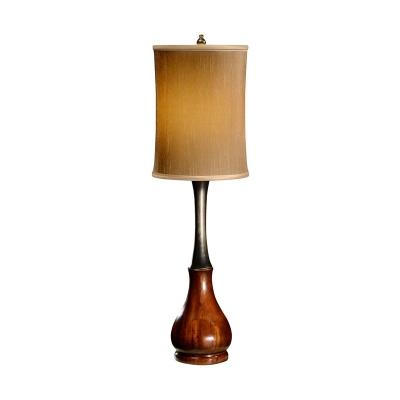 Jonathan Charles Mahogany and Ebonised Table Lamp
