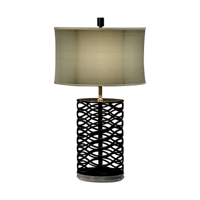 Jonathan Charles Bronze Interlaced Iron Table Lamp