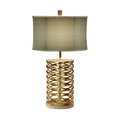 Jonathan Charles Gilded Interlaced Iron Table Lamp