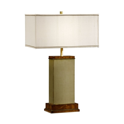 Jonathan Charles Sage Finish Hyedua Rectangular Table Lamp