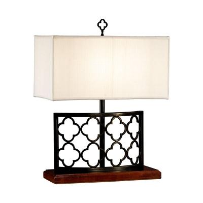 Jonathan Charles Bronzed Gothic Trellis Table Lamp