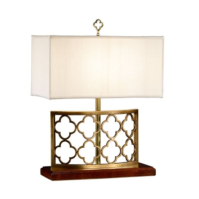 Jonathan Charles Gilded Gothic Trellis Table Lamp