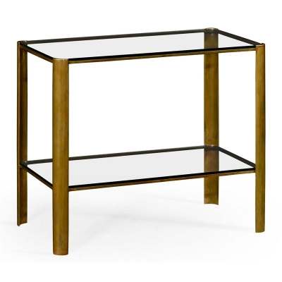 Jonathan Charles Brass End Table