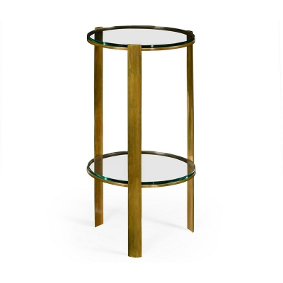 Jonathan Charles Brass Round Lamp Table