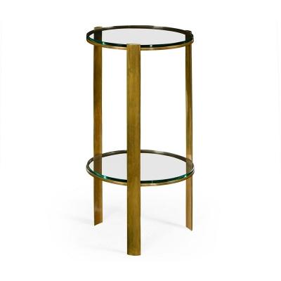Jonathan Charles Brass Round Lamp Table