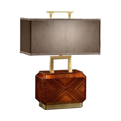 Jonathan Charles Tea Caddy Table Lamp with Brass