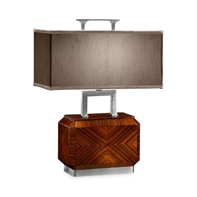 Jonathan Charles Tea Caddy Table Lamp with Stainless Steel