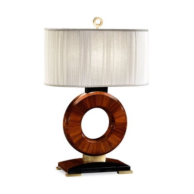 Jonathan Charles Inch Porthole Inch Table Lamp with Brass