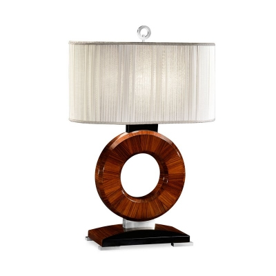 Jonathan Charles Inch Porthole Inch Table Lamp with Stainless Steel