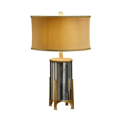 Jonathan Charles eglomise and Gilded Metal Table Lamp