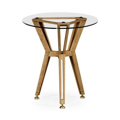 Jonathan Charles Architectural 24 Inch Circular Side Table