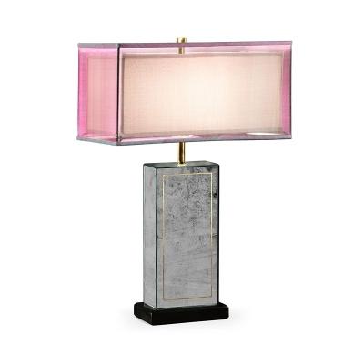 Jonathan Charles Rectangular eglomise Table Lamp