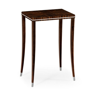 Jonathan Charles Soho Lamp Table with White Brass Detail