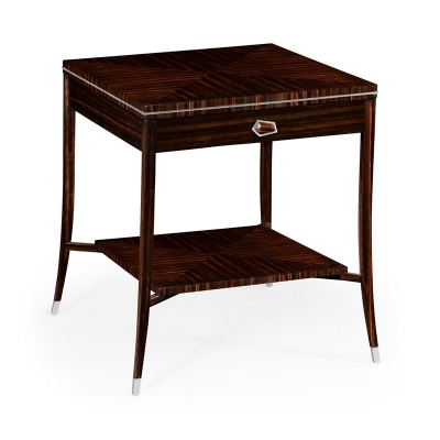 Jonathan Charles Soho End Table with White Brass Detail