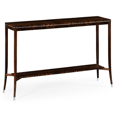 Jonathan Charles Soho Narrow Console with White Brass Detail