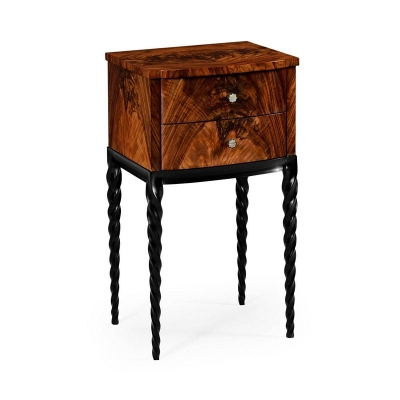 Jonathan Charles Lamp Table with Black Twisted Legs