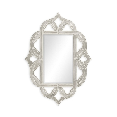 Jonathan Charles Gilded Antique Silver Leaf Mirror