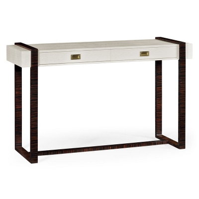 Jonathan Charles Great White Faux Croc Console