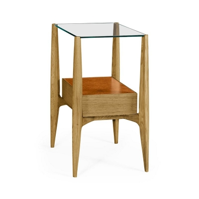Jonathan Charles Rectangular Architects End Table with Drawers