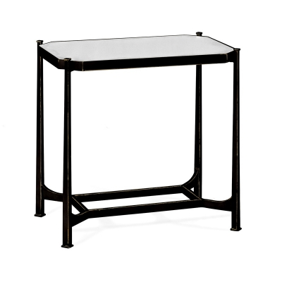 Jonathan Charles Bronze Rectangular Side Table