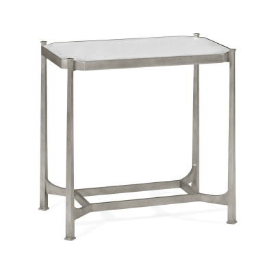 Jonathan Charles Silver Rectangular Side Table